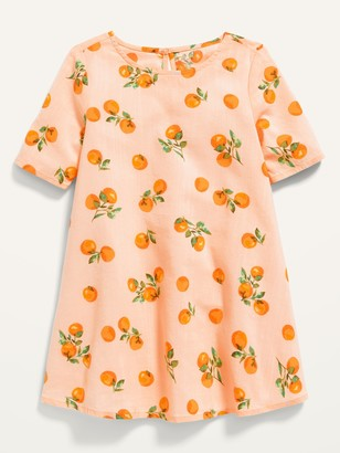 Old Navy Elbow-Sleeve Swing Dress for Toddler Girls