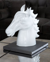 White Ceramic Horse Sculpture