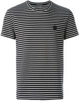 Alexander McQueen striped logo patch T-shirt - men - Cotton - XXL