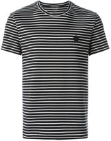 Alexander McQueen striped logo patch T-shirt