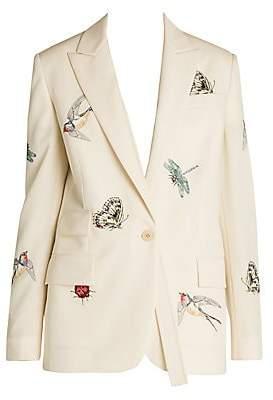 Stella McCartney Women's Bird & Bug Light Worsted Tailored Wool Single-Breasted Jacket
