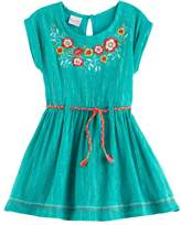 Nannette Girls 4-6x Embroidered Woven Dress