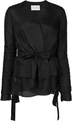 MS MIN layered belt jacket