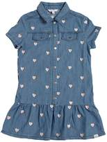 Little Marc Jacobs Heart Embroidered Chambray Dress
