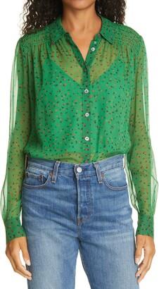 Veronica Beard Dazed Silk Chiffon Shirt
