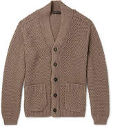 Ermenegildo Zegna Textured-Knit Cotton and Silk-Blend Cardigan