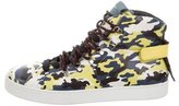Dolce & Gabbana Camouflage High-Top Sneakers