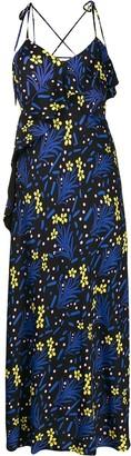 Self-Portrait floral print maxi dress