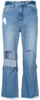 Sjyp ripped cropped jeans - women - Cotton - XS