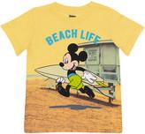 Children's Apparel Network Boys' Tee Shirts YELLO - Mickey Mouse Yellow 'Beach Life' Tee - Toddler & Boys