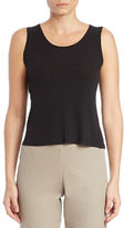 Eileen Fisher Petite Stretch Silk Jersey Scoopneck Tank Top