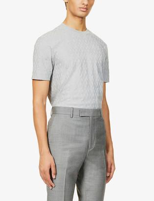 Emporio Armani Textured cotton-knit T-shirt