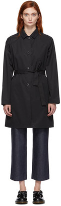 A.P.C. Black Ada Trench Coat