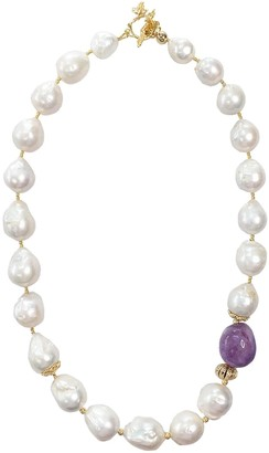 Nugget Baroque Freshwater Pearls & Amethyst Necklace