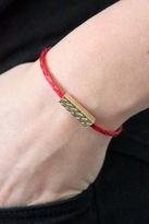 Chibi Jewels Tribal Rectangle Bracelet with Red Color Cord