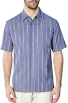 Haggar Big and Tall Short Sleeve Microfiber Stripe Shirt