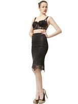 Maria Lucia Hohan Cotton Lace Bustier & Pencil Skirt