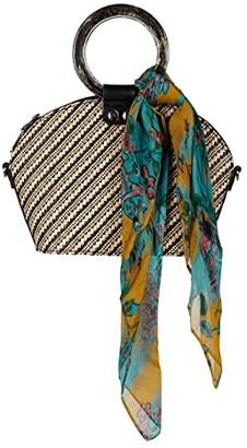 Patricia Nash Mellini Small Meldola Dome Satchel (Natural/Black/BG Scarf) Bags