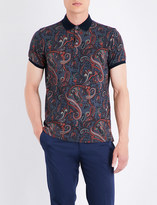 Etro Paisley cotton polo shirt