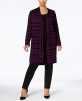 Alfani Plus Size Printed Duster Cardigan, Created for Macy's