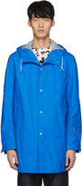 Junya Watanabe Blue Coated Linen Raincoat