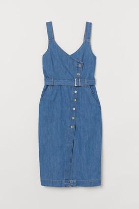 H&M Denim dungaree dress