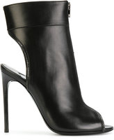 Tom Ford open toe stiletto booties - women - Leather - 36