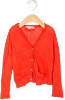 Bonpoint Girls' Long Sleeve Linen Cardigan