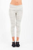 Saint Grace Fold Over Crop Legging In Cream Stripe