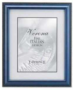 "Lawrence Frames Blue Wood Picture Frame - Gold Bead Design - 4"" x 6"""