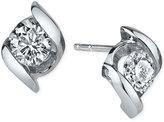 Sirena Diamond Twist Stud Earrings (1/4 ct. t.w.) in 14k White Gold
