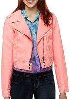 JCPenney Decree® Twill Moto Jacket
