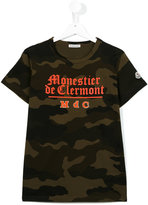 Moncler camouflage print T-shirt - kids - Cotton/Polyester - 14 yrs