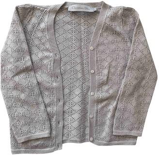Christian Dior Grey Cotton Knitwear