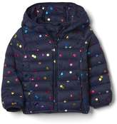 ColdControl Lite print puffer hoodie