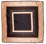 Valentino Silk Logo Scarf