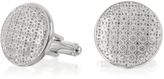 Forzieri Evergreen - Round Flower Print Cufflinks