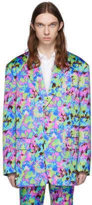 Dries Van Noten Multicolor Neon Floral Blazer
