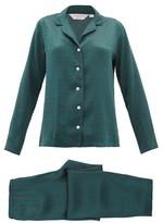 Derek Rose Brindisi Printed-silk Pyjamas - Womens - Green Print