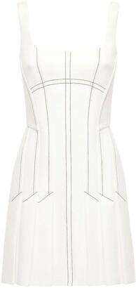 Dion Lee Pleated Corset Mini Dress