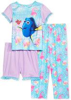 Disney 3-Pc. Finding Dory Pajama Set, Toddler Girls (2T-5T)