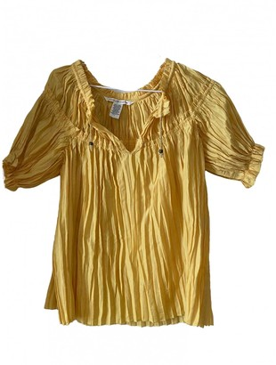 Diane von Furstenberg Yellow Top for Women