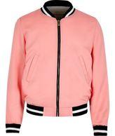 River Island Girls pink bomber jacket