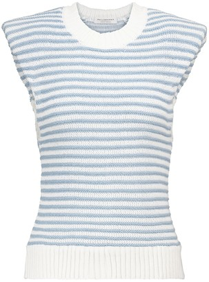 Philosophy di Lorenzo Serafini Striped cotton-blend top