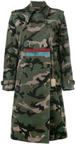 Valentino camouflage military coat - women - Cotton - 38