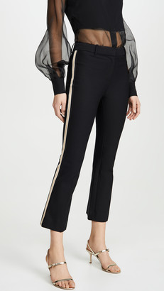Derek Lam 10 Crosby Corinna Tuxedo Stripe Cropped Flare Trousers