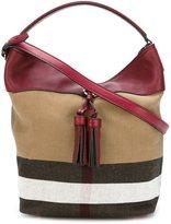 Burberry check detail shoulder bag