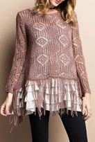 Easel Crochet Knit Sweater