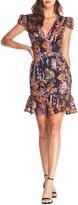 Dress the Population Corinne Sequin Embellished Embroidered Dress