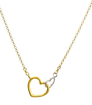 Dogeared Linked Heart Necklace, 18